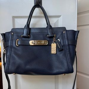 Coach Madison Leather Carrie Satchel Bag